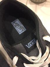 VANS Shoes size 10 - Grey herringbone pattern