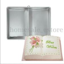Giant Open Book Shape Pastry Cake Fondant Pan Tin Decoration Mold Mould 3D Tray