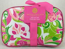 Pina Colada Cosmetic Bag Set Duo Danielle Enterprises Macbeth M79420 Floral 2 pc