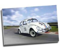 "Herbie VW Beetle Canvas Print Wall Art 30x20"" A1"
