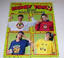 LEISURE ARTS LOONEY TUNES IN WASTE CANVAS LEAFLET PATTERN BOOK #2869 1996 OOP