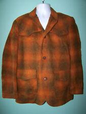 1950s Vintage Miller Denver Colorado Rusty Plaid Western Wear Coat Jacket