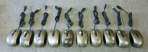 10 x Dell 0Y357C MOCZUL USB Wired 6 Button Silver Laser Scroll Wheel Mouse