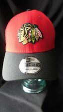 Chicago Blackhawks New Era Hat / Cap 3 Cups 39THIRTY L-XL Stretch Fit Free Ship