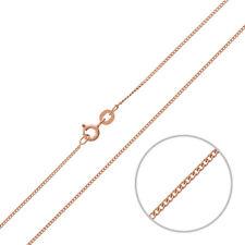 DIAMOND CUT 1.1 mm ROSE OR Vermeil 18 in (environ 45.72 cm) Curb Chaîne (P30/9)