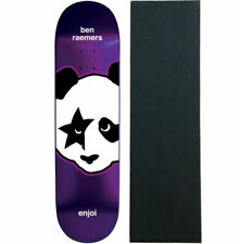 Enjoi Skateboard Deck Raining Cats and Dogs Black 8.25 with Grip