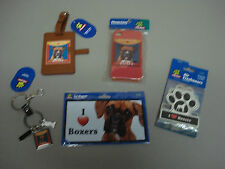 New Boxer Dog 5 Piece Lot Key Chain Car Magnet Luggage Tag More #37