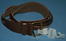 Charlotte Russe M Brown Woven Strips Belt Embossed Flowers Floral NWT New Womens