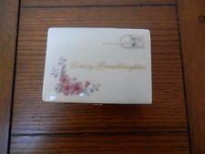 Porcelain Music Box  Ardleigh Elliott Loving Granddaughter