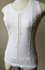 Dolce & Gabbana White Scoop Neck Sleeveless Top Size 44