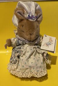 "Vintage Beatrix Potter Lady Mouse Plush Eden Toy Peter Rabbit 9"" Very Rare W/Tag"