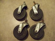 "(4) Bassick Casters Wheels 4"" dia for Cart or Table 7/8 thick with 7/16 pin"