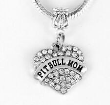 Pit bull Mom Pit Bull best Gift Pit Bull Jewelry Dog charm charm only my pet dog