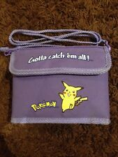"Vintage Pokemon Pikachu Purple NINTENDO GAME BOY ""Gotta Catch Em All!"" Case Bag"