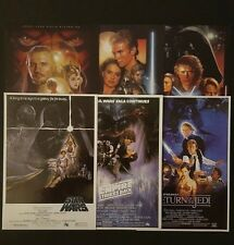 Star Wars Blu Ray Exclusive Poster Set Vintage Retro Princess Leia Carrie Fisher