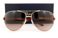 Brand New Chopard Sunglasses SCH B24S 0R26 Gold/Gradient Brown For Women