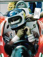 FERRARI 312T2 CARLOS REUTEMANN GP PHOTOGRAPH 1977 MONACO GRAND PRIX F1 COCKPIT