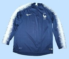 Nike Vaporknit France Football Soccer Blue 1/4 Zip L/S Pullover Youth Size 18
