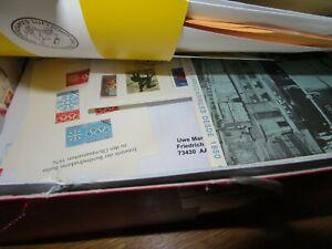 Briefmarken Restekiste  - großer Schuhkarton mit Marken, Belegen, Kiloware