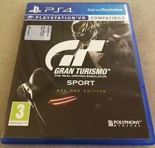 Gran Turismo Sport PS4 Completo italiano PlayStation 4 come NUOVO
