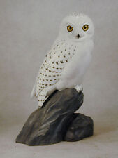 Snowy Owl Original Wood Carving