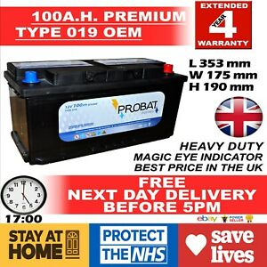BMW 320D 330D 520D 525D 530D 535 535D 728 730D X3 X4 X5 X6 019 100AH CAR BATTERY