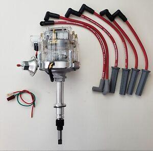 AMC JEEP 258 232 INLINE 6 CLEAR HEI DISTRIBUTOR + 8.5mm SPARK PLUG WIRES CJ5 CJ7