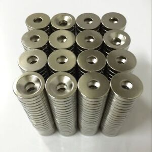 1-100pcs Super Strong Magnet Round Ring Neodymium Magnets N52 with Hole 10*3*3mm