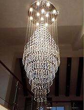 "H59"" x W23.6""  Modern Contemporary Round Rain Drop LED K9 Crystal Chandelier"