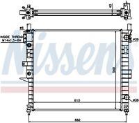 NISSENS Engine Coolant Radiator - 62787A