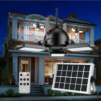 60 LED Solar Ceiling Pendant Light Hanging Garage Shed Tent Garden Lamp Remote