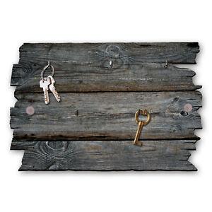Holzstruktur Schlüsselbrett Hakenleiste Landhaus Shabby chic aus Holz 30x20cm
