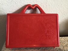 Vintage 88 McDonalds  Happy Meal Toy On the Go School Lunch Box Red Pencil Case