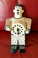 JIRI BURES 1990's Whimsical Robot Modernist CLOCK Australian Art Pottery Signed