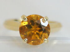 Beautiful 18K Yellow Gold 2 1/2 Carat Brilliant Citrine Cocktail Ring