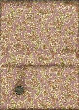 Very Pretty Floral Paisley Print multi on mauve Fabric by Classic Cottons (2000)