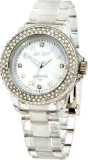 Neu Jet Set Damen Uhr Polycarbonat Armbanduhr Swarovski Steinbesatz #068