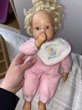 "Lee Middleton Original Doll Newborn Wonder 13"" Vinyl Doll Pink Blonde Blue Eyes"