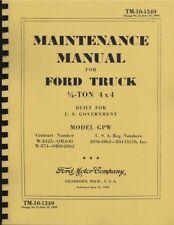 TM10-1349 ~ Maintenance Manual Ford Jeep ~ Model GPW ~ Reprnt