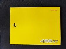 Ferrari 456 GT Owners Manual, wie neu, 4-sprachig, no.881/94
