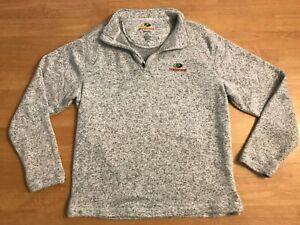 Mossy Oak Fleece Sweatshirt 1/4 Long Sleeve Men's Sz Large Gray, Free Shipping!!