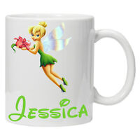 Personalised Tinkerbell Mug/Cup Perfect Gift Birthday Adult/Child Sizes tea