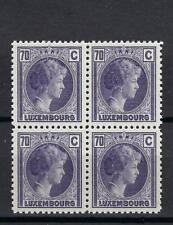 Luxembourg 1935 Sc# 173 Charlotte Grand Duchess 70c block 4 MNH
