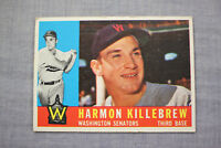 Harmon Killebrew 1960 Topps Washington Senators HOF Baseball Card# 210 Very Nice