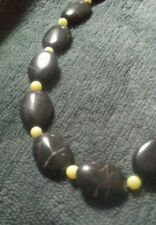 Beautiful Necklace - Black Stone with Jade