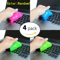 4 Pcs Keyboard Car Dust Dirt Soft Sticky Magic Clean Glue Gum Silica Gel Cleaner