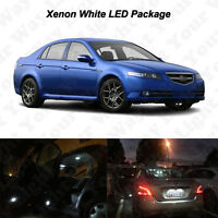 13 x White LED Interior Bulbs + License Plate Lights For 2004-2008 Acura TL