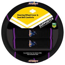 9000 NRL Steering Wheel Cover & Seat Belt Comforts - NRL MELBOURNE STORM - NEW