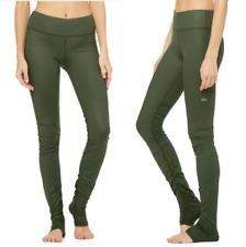 ALO YOGA Idol Olive Green Fitness Gym Yoga Over Heel Leggings NWOT