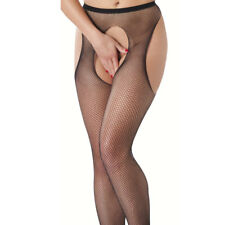 Xtr1469 Fishnet Suspender Tights With Open Crotch